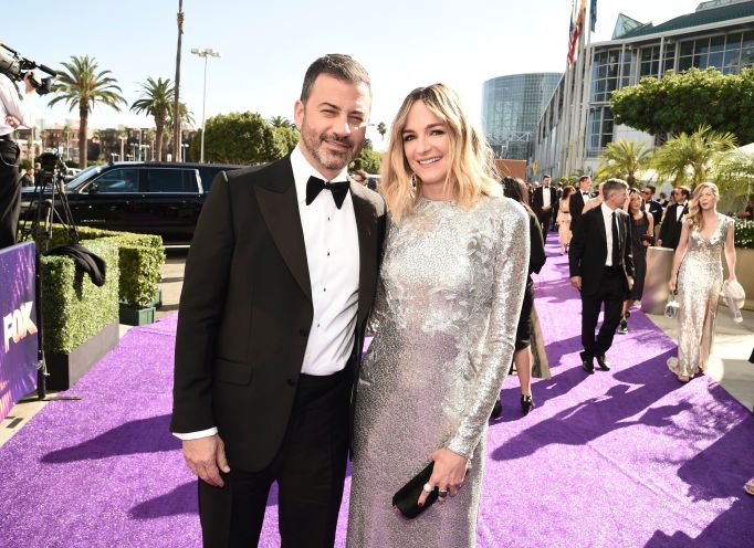 Jimmy Kimmel, Molly McNearney. Jimmy Kimmel, left, and Molly McNearney arrive at the 71st Primetime Emmy Awards, at the Microsoft Theater in Los Angeles71st Primetime Emmy Awards - Limo Drop Off, Los Angeles, USA - 22 Sep 2019