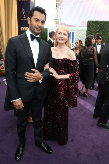 Darwin Shaw, Patricia Clarkson. Darwin Shaw and Patricia Clarkson arrive at the 71st Primetime Emmy Awards, at the Microsoft Theater in Los AngelesFIJI Water at the 71st Primetime Emmy Awards, Los Angeles, USA - 22 Sep 2019