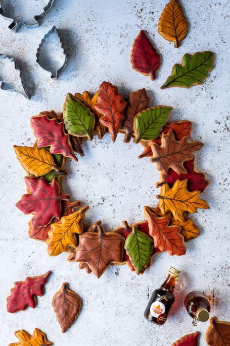 Vegan Maple Cookie Wreath