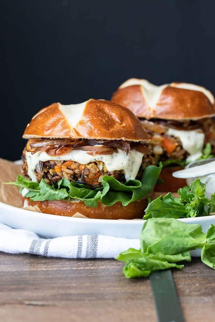 Butternut Squash and Apple Burgers