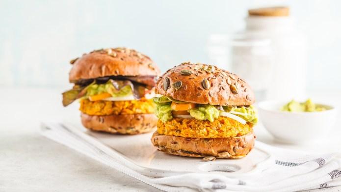 Vegan sweet potato (or pumpkin) burgers