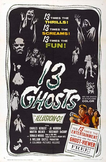 '13 Ghosts' (1960) movie poster.