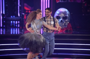 """DANCING WITH THE STARS - """"Halloween"""" - All treats and no tricks as eight celebrity and pro-dancer couples return to the ballroom to celebrate Halloween and compete on the seventh week of the 2019 season of """"Dancing with the Stars,"""" live, MONDAY, OCT. 28 (8:00-10:00 p.m. EDT), on ABC. (ABC/Eric McCandless)HANNAH BROWN, ALAN BERSTEN"""