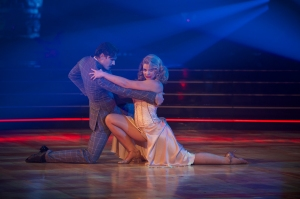 """DANCING WITH THE STARS - """"Halloween"""" - All treats and no tricks as eight celebrity and pro-dancer couples return to the ballroom to celebrate Halloween and compete on the seventh week of the 2019 season of """"Dancing with the Stars,"""" live, MONDAY, OCT. 28 (8:00-10:00 p.m. EDT), on ABC. (ABC/Eric McCandless)GLEB SAVCHENKO, LAUREN ALAINA"""