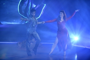 """DANCING WITH THE STARS - """"Halloween"""" - All treats and no tricks as eight celebrity and pro-dancer couples return to the ballroom to celebrate Halloween and compete on the seventh week of the 2019 season of """"Dancing with the Stars,"""" live, MONDAY, OCT. 28 (8:00-10:00 p.m. EDT), on ABC. (ABC/Eric McCandless)PASHA PASHKOV, KATE FLANNERY"""