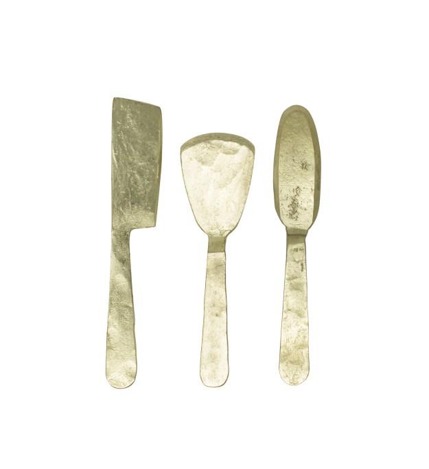 Cordoba brass finish cheese tools at Dark Keaton