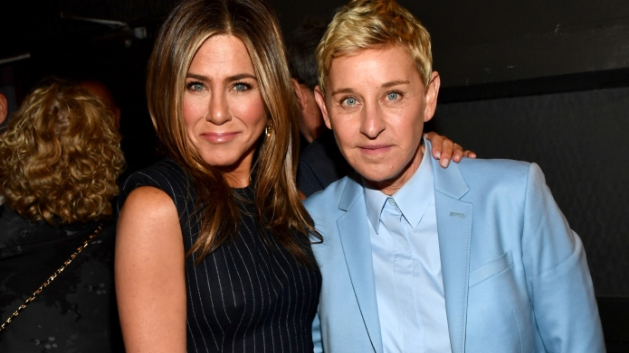 Jennifer Aniston and Ellen DeGeneres