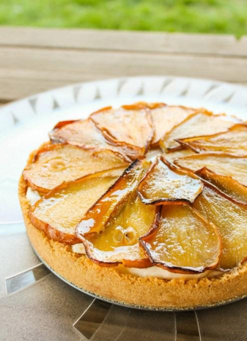 Maple Pear Cheesecake
