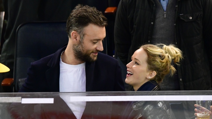 Jennifer Lawrence and Cooke Maroney at Madison Square Garden.