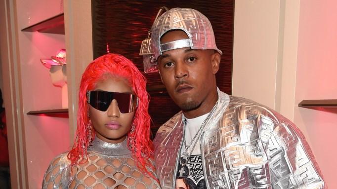 Nicki Minaj and Kenneth Petty at FENDI Prints On.