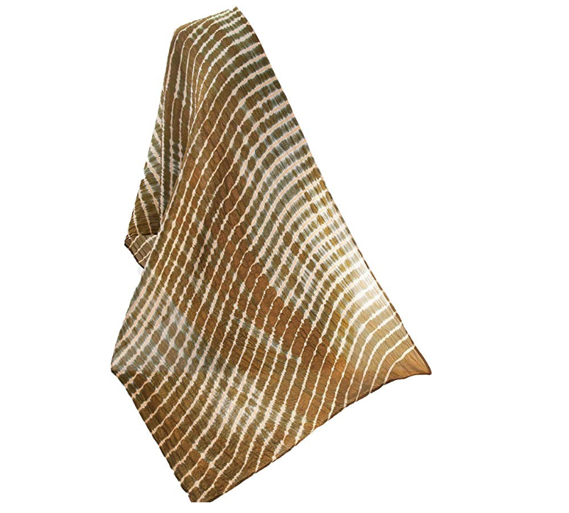 Gold shibori scarf