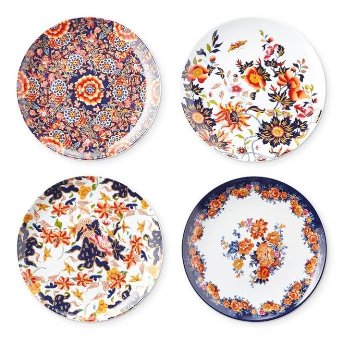 Fleur appetizer plates Williams Sonoma