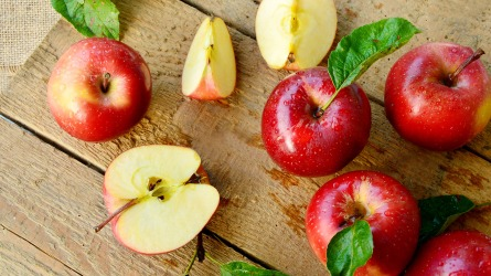 Red apples or Gala apples with