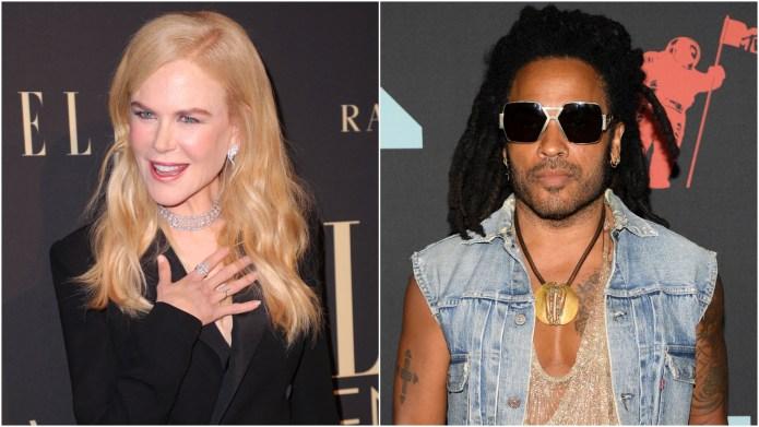 Nicole Kidman; Lenny Kravitz.