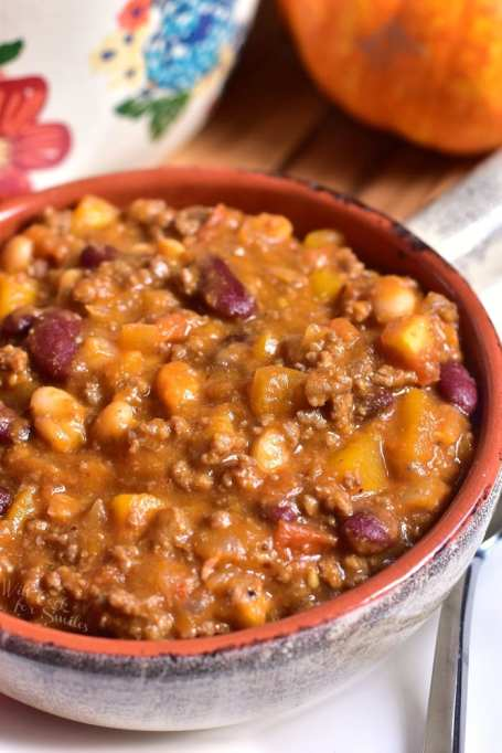 Beef, Bean, and Pumpkin Chili Pumpkin Chili