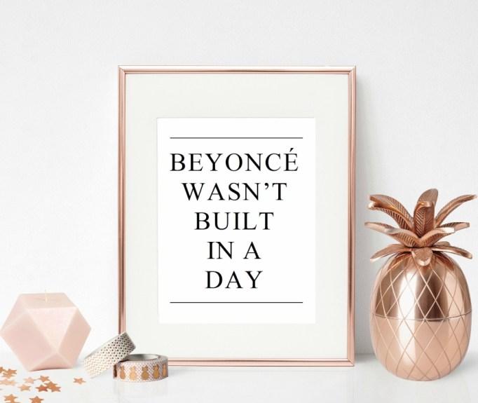 Beyoncé Print.