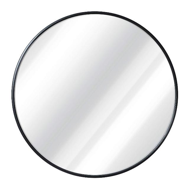 Black Round Wall Mirror