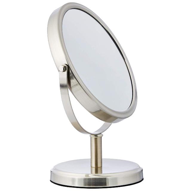 AmazonBasics Modern Dual Sided Magnification Makeup Vanity Mirror
