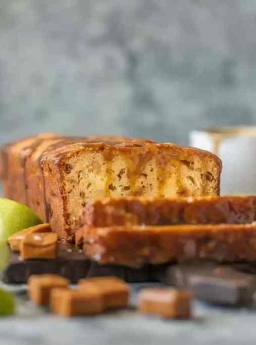 Caramel Cheesecake-Stuffed Apple Bread