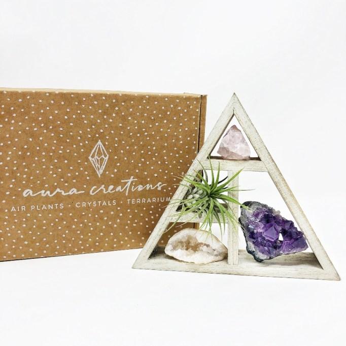Mini Crystal & Air Plant Gift Set.