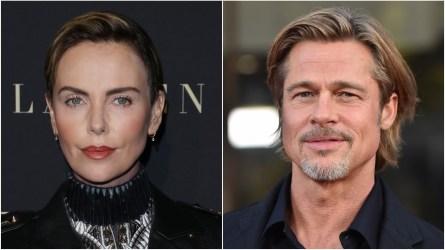 Charlize Theron; Brad Pitt.