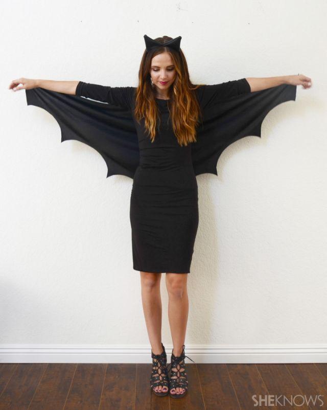 Bat Makeup Halloween Costume.Diy Bat Costume You Can Make In Minutes Sheknows