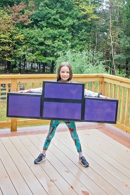 Tetris shapes costume.
