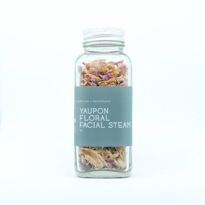 Floral facial steam Yaupon Teahouse