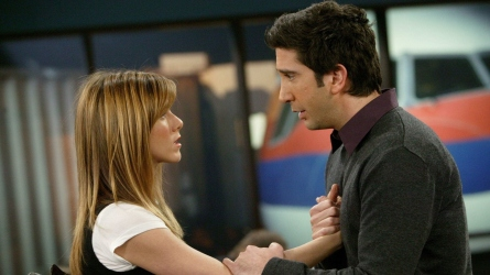 Ross & Rachel on 'Friends.'