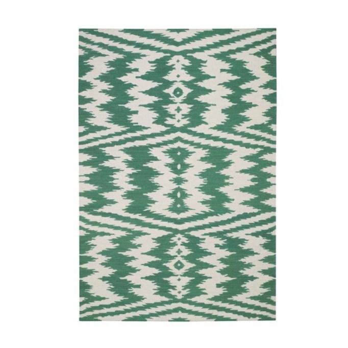 Genevieve Gorder Uzbek Emerald Rug.