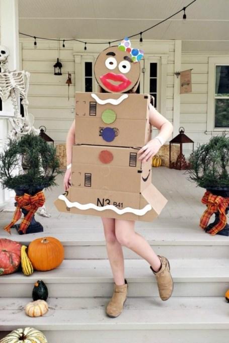 Gingerbread woman costume.