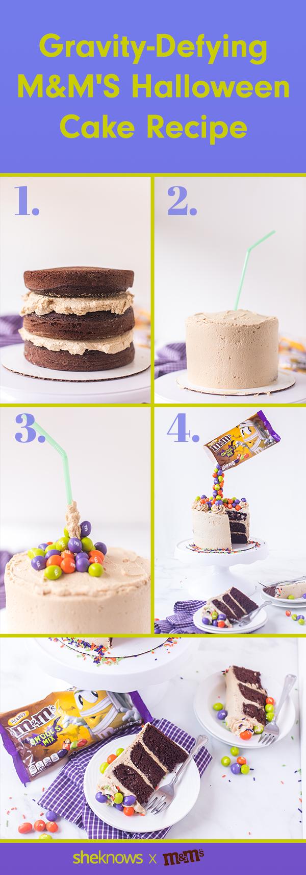 Pleasant Halloween Cake Recipe How To Make A Gravity Defying Mms Cake Funny Birthday Cards Online Inifofree Goldxyz
