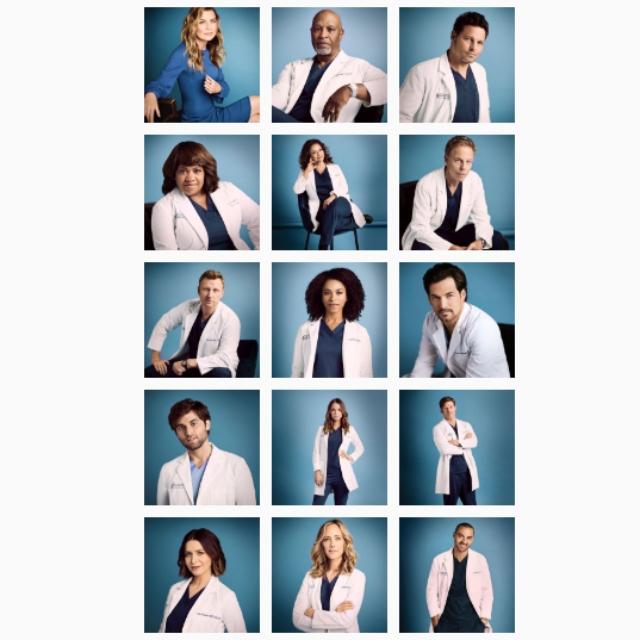 'Grey's Anatomy' cast photos.