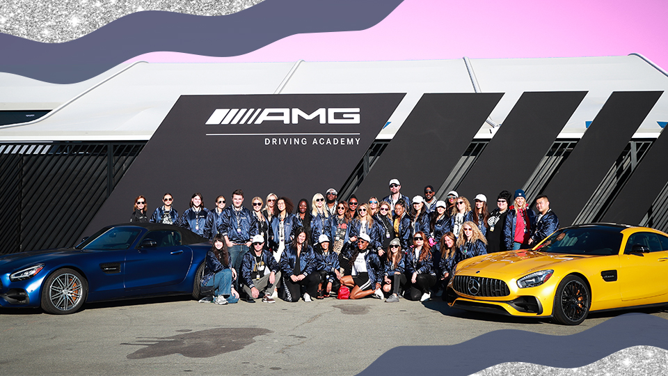 SHEKNOWS | Mercedes-Benz AMG & Glamour Celebrate Women's Empowerment at Laguna Seca Raceway
