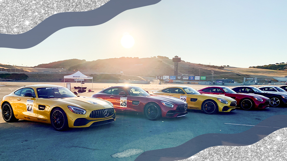 Mercedes Benz AMG Race Cars Lined Up