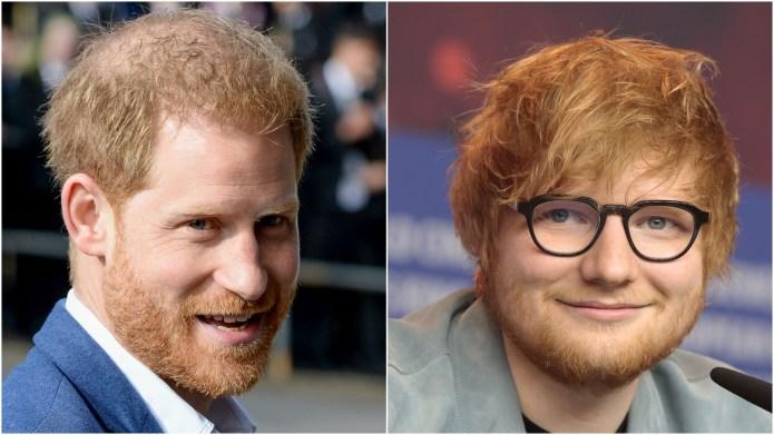 Prince Harry; Ed Sheeran.