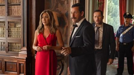 Jennifer Aniston and Adam Sandler in