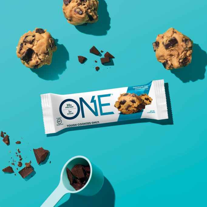 One Bar in Chocolate Chip Cookie Dough