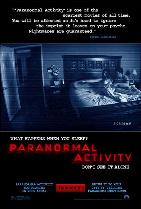 'Paranormal Activity' (2007) movie poster.