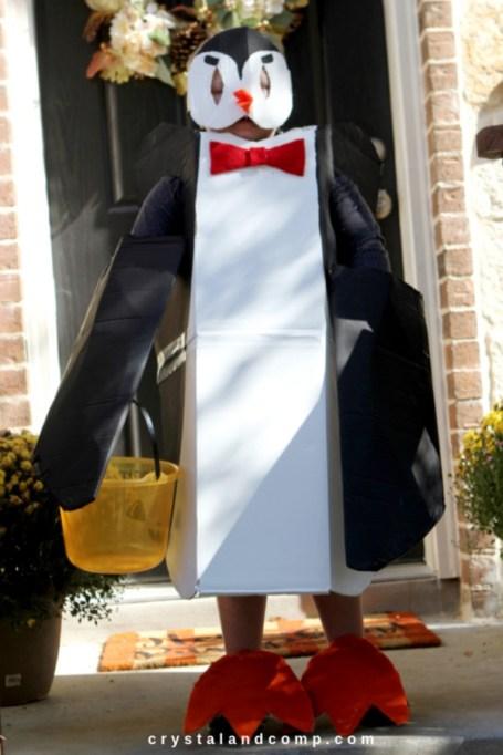 Penguin costume.