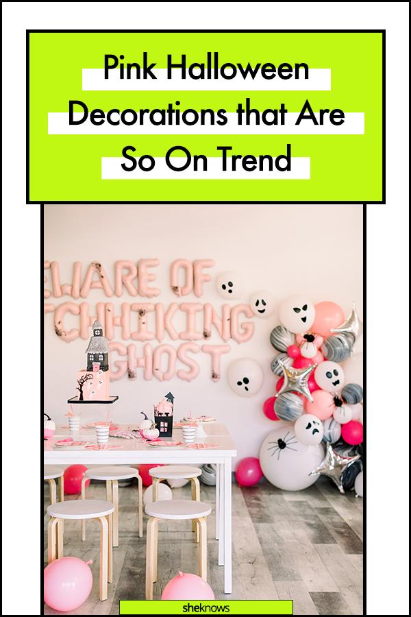 Pink Halloween Decorations