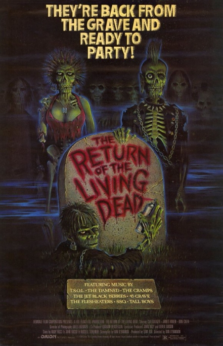 'The Return of the Living Dead' (1985) movie poster.