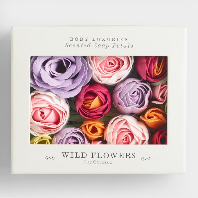 Wild flowers soap petals World Market