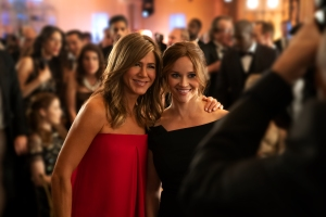 Jennifer Aniston and Reese Witherspoon in Apple TV's 'The Morning Show.'