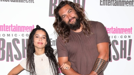 Zoe Kravitz and Jason Momoa.