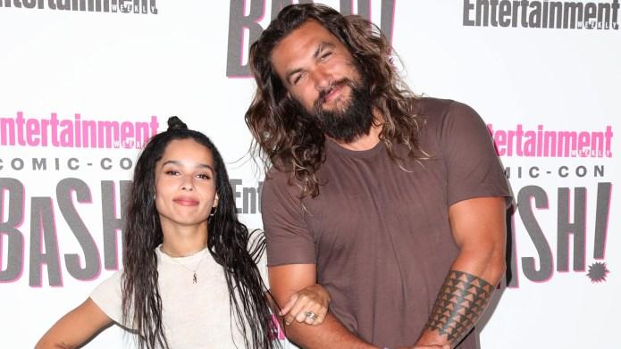 Zoe Kravitz and Jason Momoa.