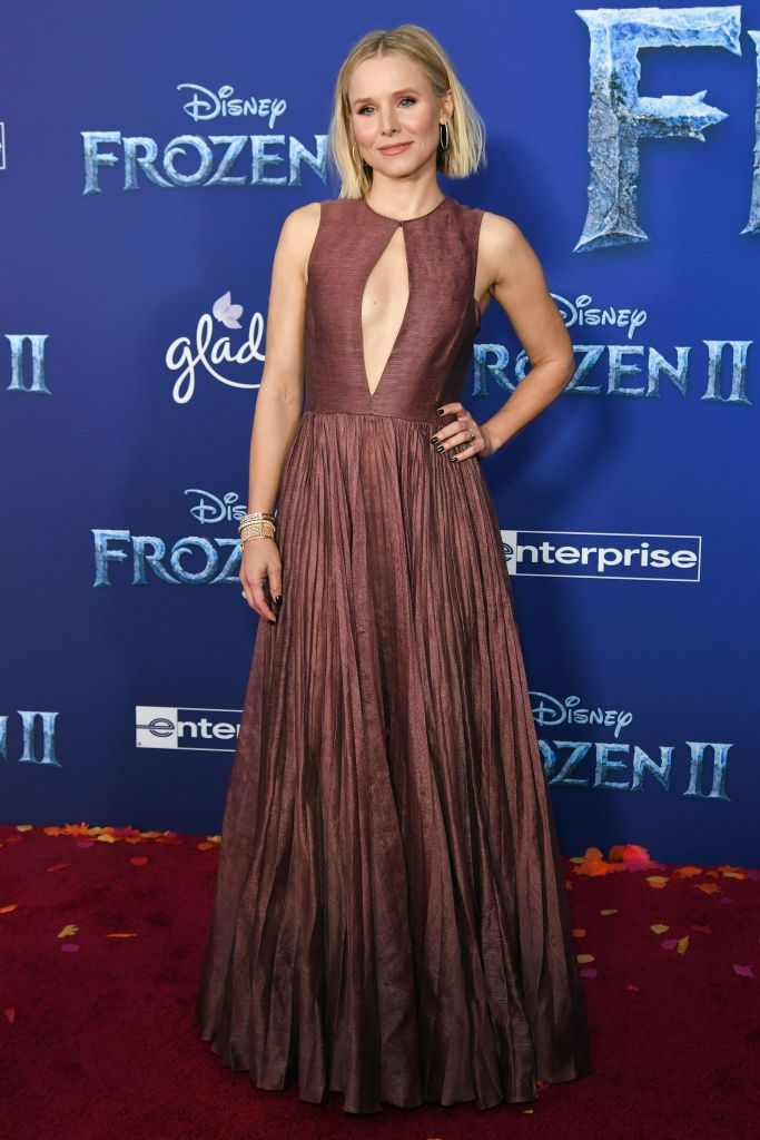 Kristen Bell 'Frozen II' film premiere, Arrivals, Dolby Theatre, Los Angeles, USA - 07 Nov 2019 Wearing Dior Same Outfit as catwalk model *10222391at