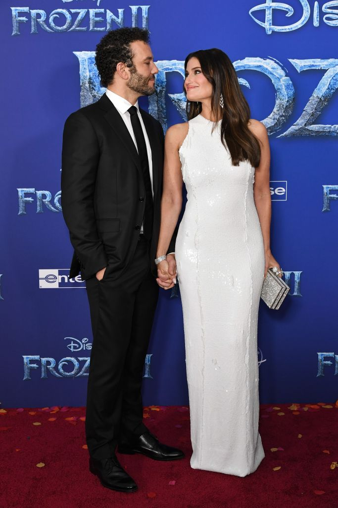 Aaron Lohr and Idina Menzel 'Frozen II' film premiere, Arrivals, Dolby Theatre, Los Angeles, USA - 07 Nov 2019