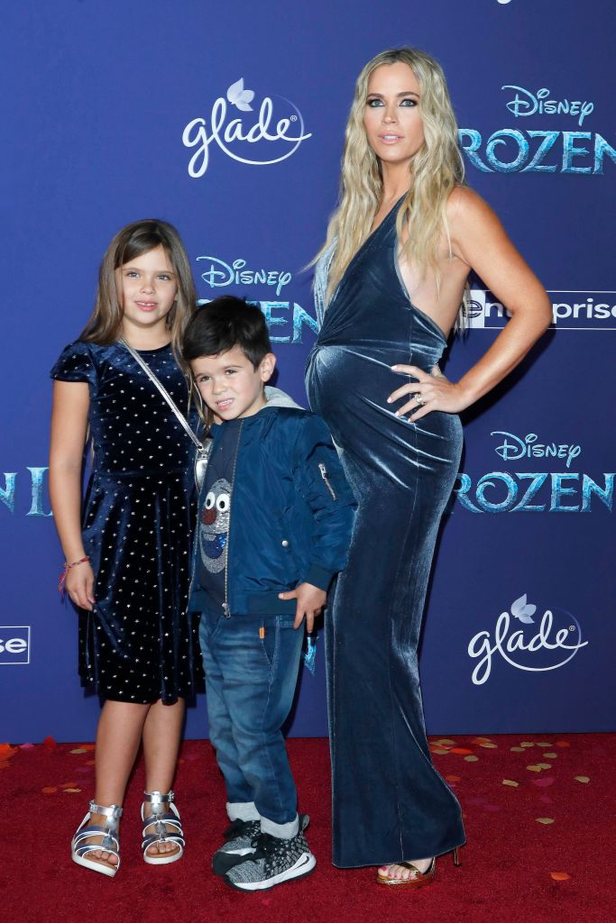Teddi Mellencamp (R) poses on the red carpet prior to the world premiere of the movie 'Frozen II' at the Dolby Theatre in Hollywood, Los Angeles, California, USA, 07 November 2019. The movie is to be released in US theaters on 22 November 2019. World premiere of 'Frozen II' in Hollywood, Los Angeles, USA - 07 Nov 2019