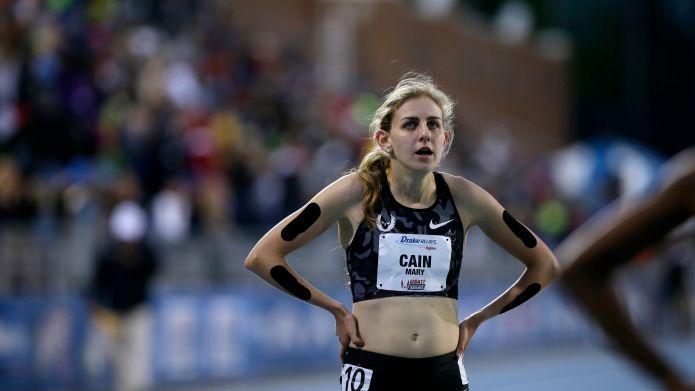 Mary Cain Mary Cain walks off